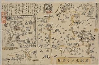 <b>観光案内図</b> 『南都名所之絵図』